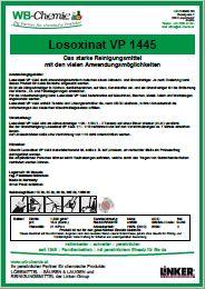 Produktblatt - Losoxinat VP 1445: Spezial Fett- und Schmutzlöser - ein Produkt der Linker Group der Firma WB-Chemie (Steirische Industriechemie)